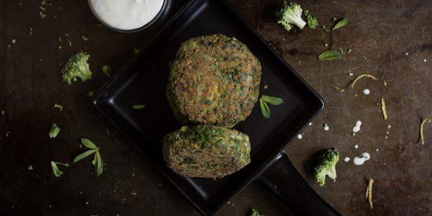 котлеты из брокколи: готовое блюдо