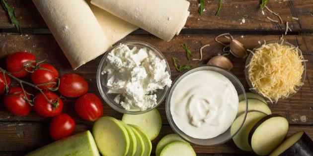 тарт с овощами: ингредиенты