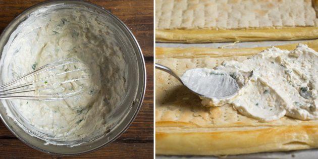 тарт с овощами: сырный крем
