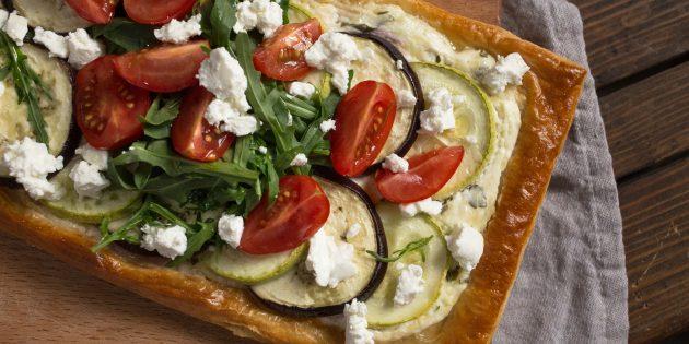 тарт с овощами: готовое блюдо