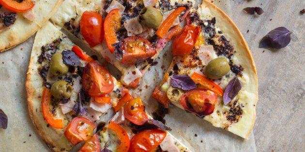 пицца из тортильи: готовая пицца