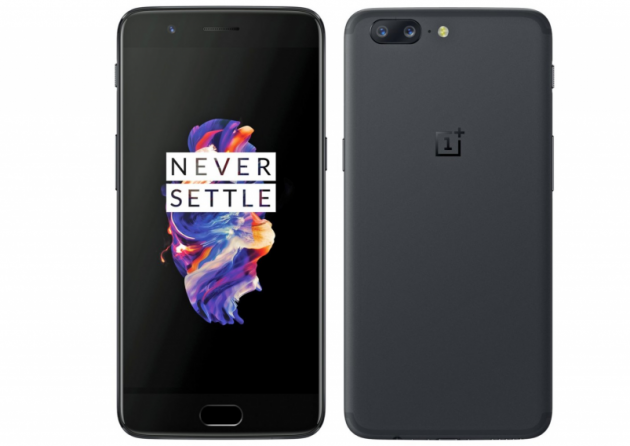 OnePlus 5 front back