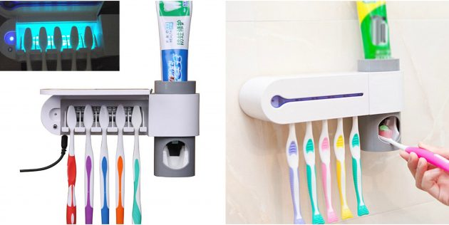 Дозатор зубной пасты с держателем для щёток