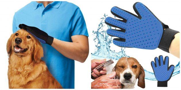 Перчатка для расчёсывания кошек и собак