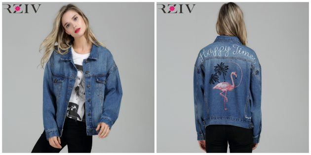 Джинсовая куртка oversize с вышивкой