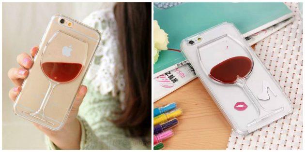 Чехол с бокалом вина для iPhone 6 и 6S