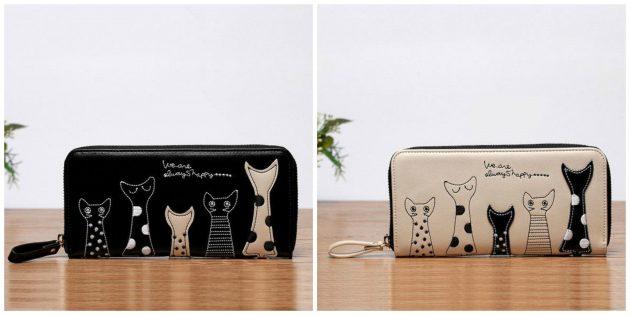 Очаровательный кошелёк с котиками
