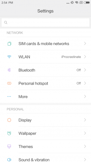Xiaomi Mi6: навигация