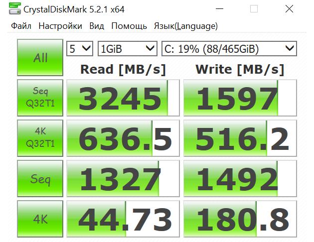 HP Spectre x360: оценка SSD