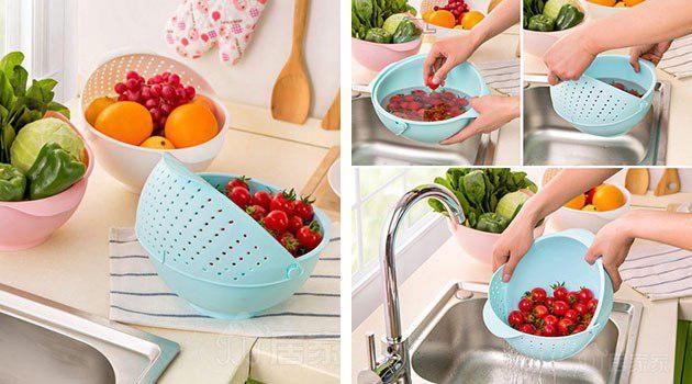 Миска для мытья фруктов и овощей