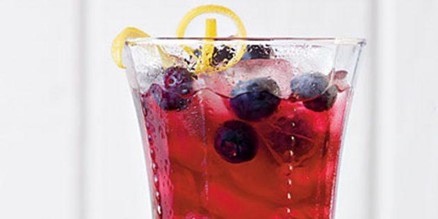 фруктовый чай: чай с чёрной смородиной и лимоном