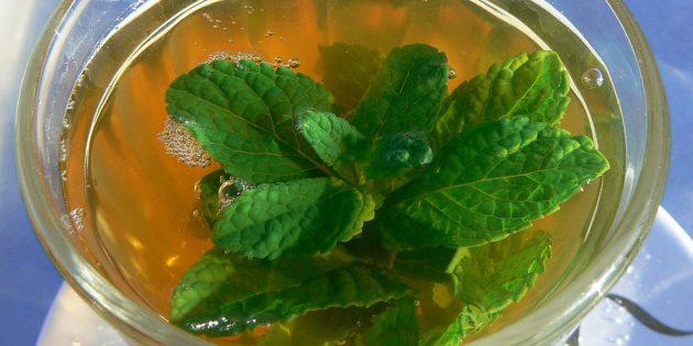 фруктовый чай: мятный чай