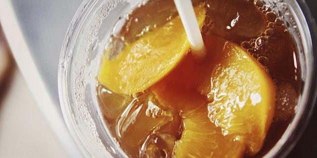 фруктовый чай: персиковый чай