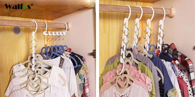 Вешалка для экономии места в шкафу