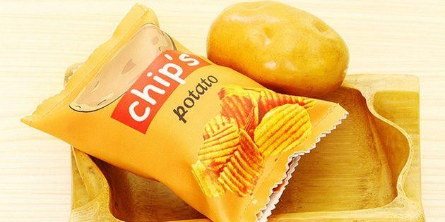 Пенал в виде пачки чипсов