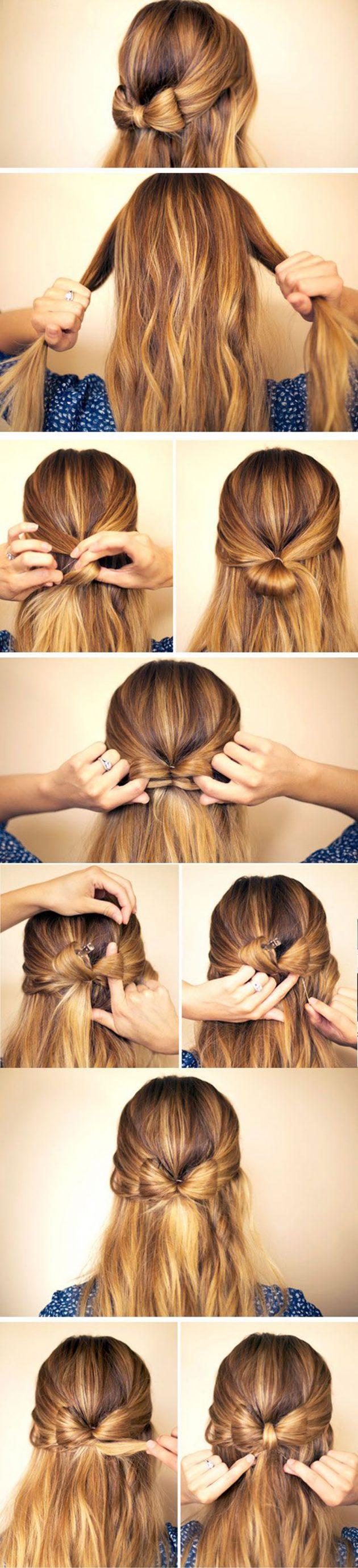 Бант из волос