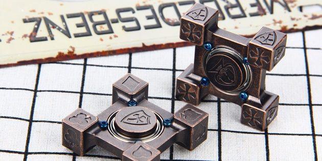 Квадратный спиннер из бронзы