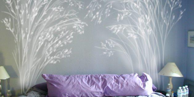 цветовые акценты в интерьере: кровать