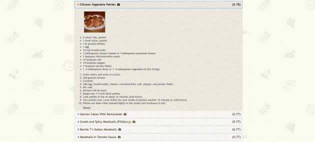 Recipe1M: работа сети