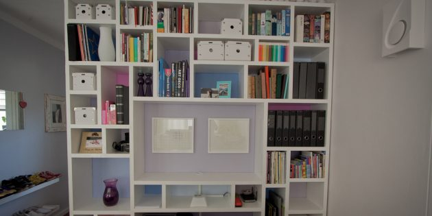 цветовые акценты в интерьере: шкафы