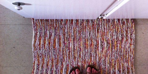 цветовые акценты в интерьере: коврики