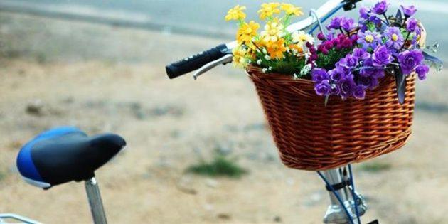 Плетёная корзинка на руль
