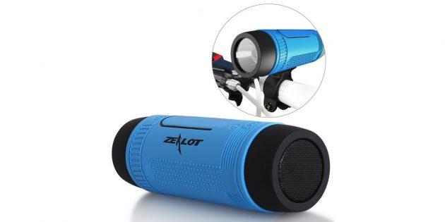Велосипедный Bluetooth-динамик с фонарём