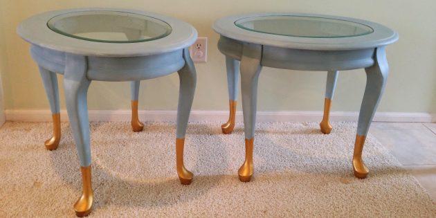цветовые акценты в интерьере: ножки мебели