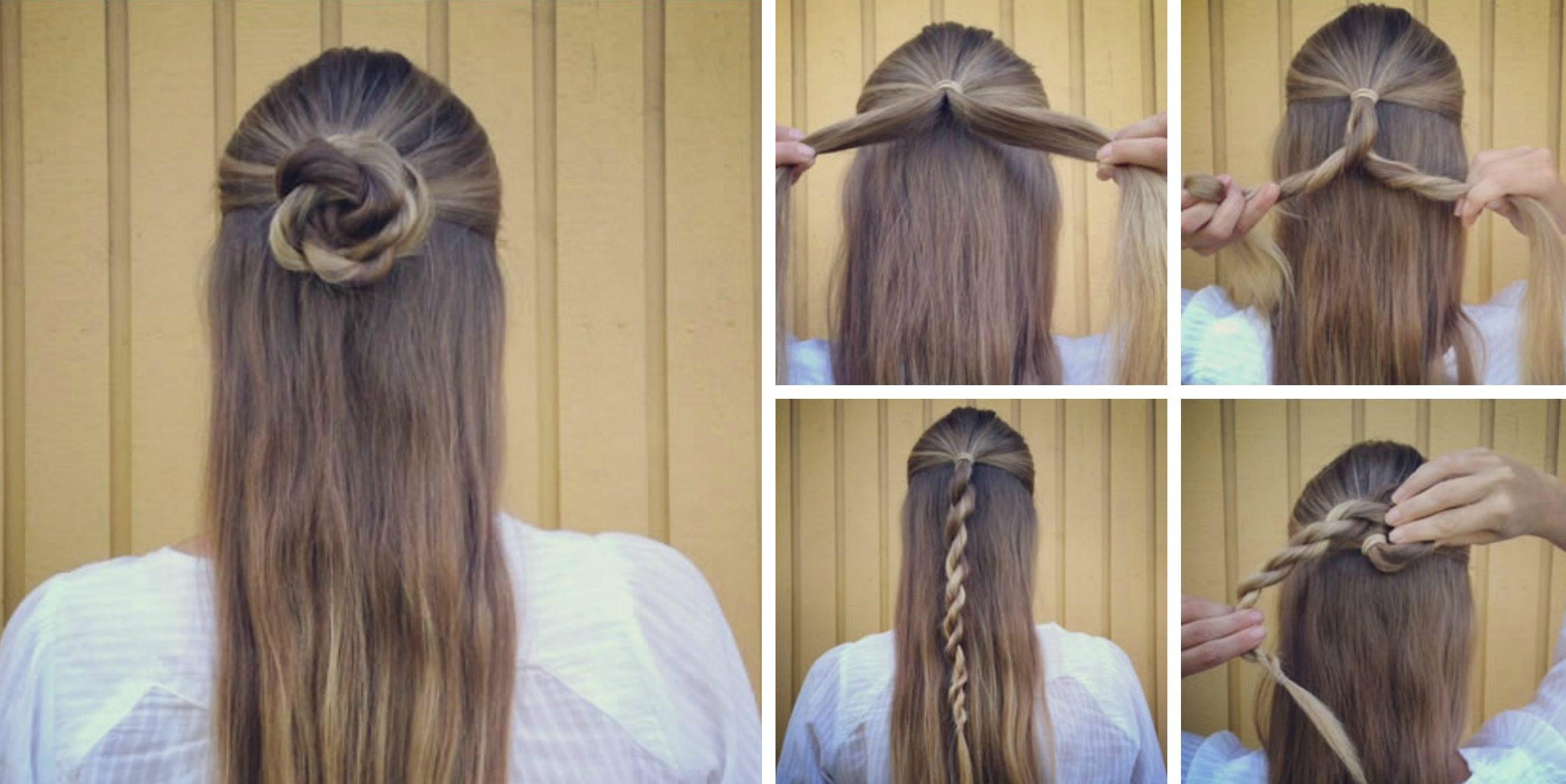 Причёски в форме цветов
