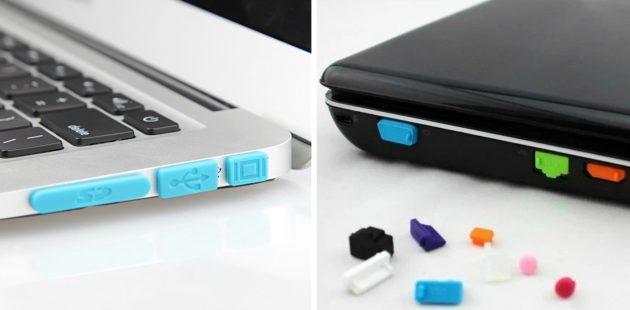 Заглушки для разъёмов ноутбука
