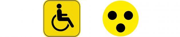 Знак Инвалид и Глухой водитель