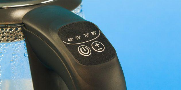 Стеклянный электрический чайник: Кнопки управления