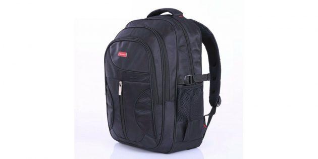 Мужской объёмный нейлоновый рюкзак
