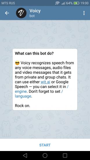 Telegram-бот Voicy превращает голос в текст