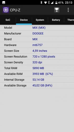 Doogee Mix: технические характеристики 2