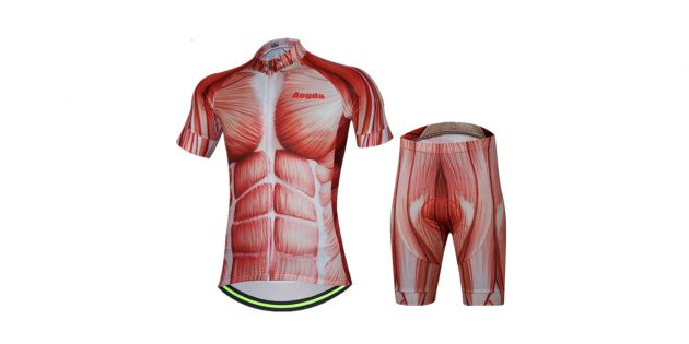Комплект из футболки и велошорт