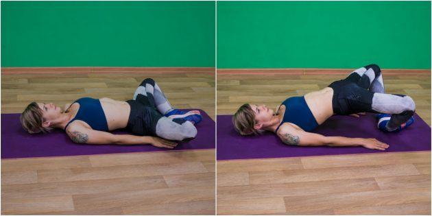 упражнения-филлеры: ягодичный мостик в «лягушке»