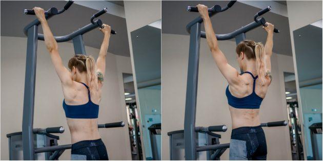 Как научиться подтягиваться: Активация мышц спины в висе