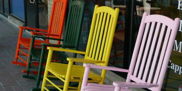цветовые акценты в интерьере: стулья