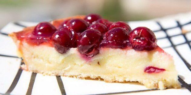 Классический тирольский пирог с вишней