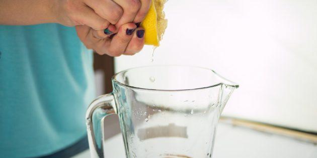 вишнёвый лимонад: цитрусовый сок