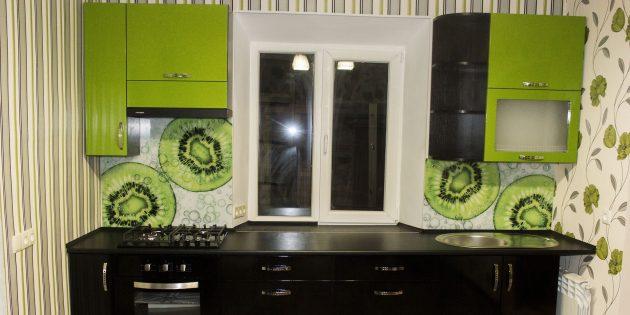 цветовые акценты в интерьере: кухонные шкафы