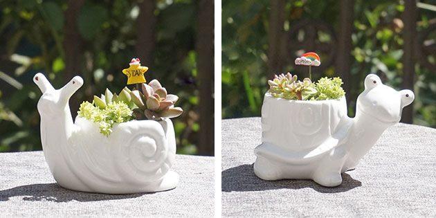 маленькие горшки для цветов
