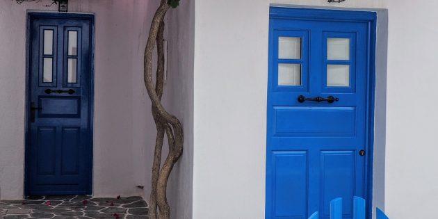 цветовые акценты в интерьере: дверь