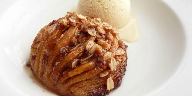 Рецепты с яблоками: Запечённые яблоки-гармошки