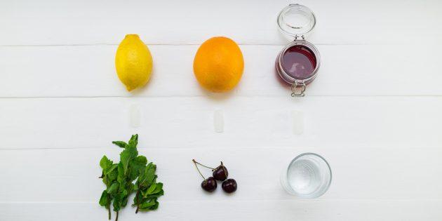 вишнёвый лимонад: ингредиенты