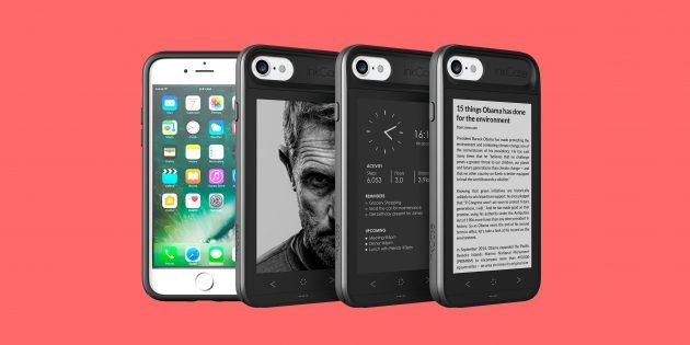 Гаджет дня: чехол с дисплеем E-Ink, добавляющий к iPhone маленький Kindle