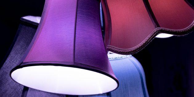 цветовые акценты в интерьере: абажуры