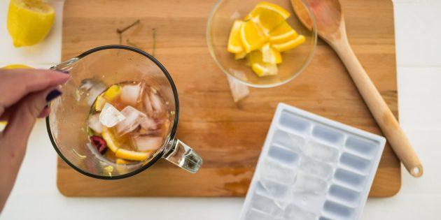 вишнёвый лимонад: лед