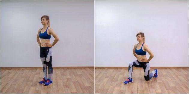 эффективные упражнения: Выпады
